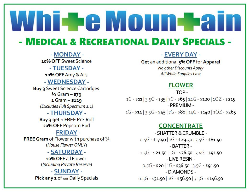 White Mountain Daily Specials